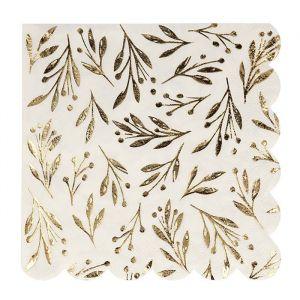 Servetten groot Gold Leaf (16st) Meri Meri