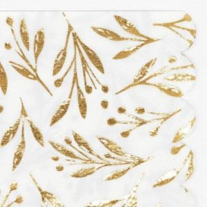 Servetten klein Gold Leaf (16st) Meri Meri