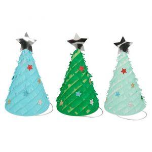 Feesthoedjes Fringed Christmas Trees (6st) Meri Meri