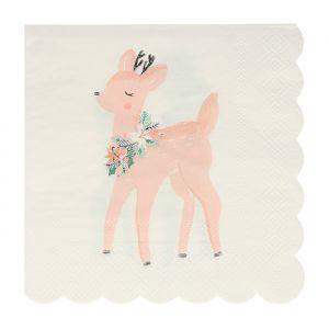 Servetten Pastel Deer (16st) Meri Meri