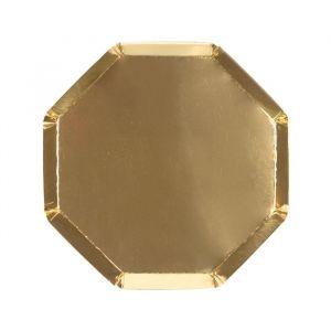 Gebaksbordjes goudfolie (8st) Beautiful Basics Meri Meri