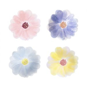 Gebaksbordjes Flower Garden (8st) Meri Meri