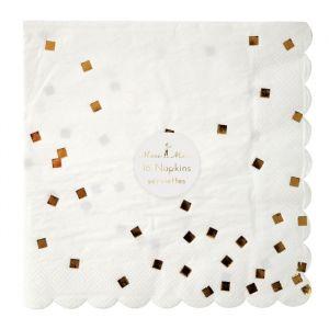 Servetten confetti goud (16st) Meri Meri