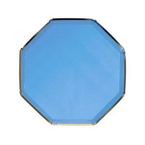 Gebaksbordjes Bright Blue (8st) Meri Meri