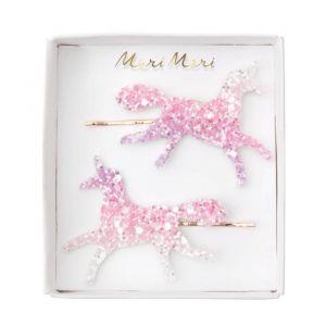 Haarspeldjes glitter unicorns (2st) Meri Meri