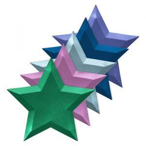 Borden ster metallic 5 kleuren (8st) Meri Meri