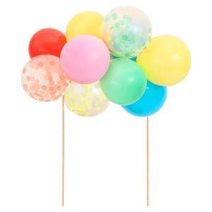 Taarttopper Regenboog ballonnen Meri Meri