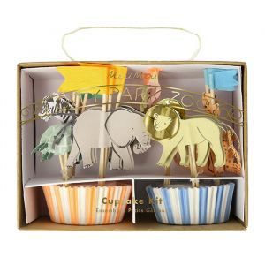 Cupcake Kit Safari Animals Meri Meri