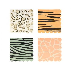 Servetten Safari Animal print (16st) Meri Meri