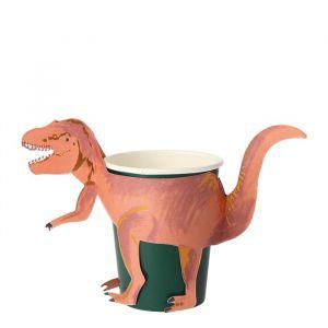 Bekertjes T-Rex (8st) Meri Meri
