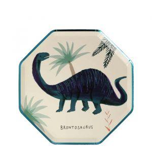 Gebaksbordjes Dinosaur Kingdom (8st) Meri Meri