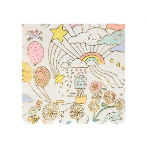 Gebaksservetten Happy Doodle (16st) Meri Meri