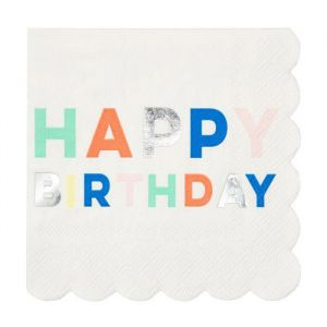 Gebaksservetten Birthday Palette (16st) Meri Meri
