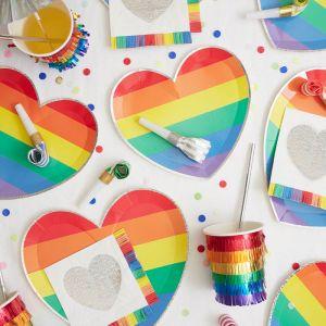 Gebaksservetten Rainbow Fringe (16st) Meri Meri