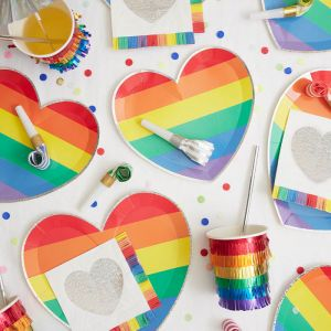 Borden Rainbow Heart (8st) Meri Meri