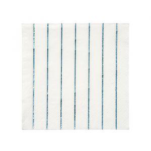 Gebaksservetten Blue Holografisch (20st) Basics Meri Meri