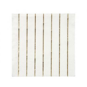 Gebaksservetten Gold Stripe (16st) Basics Meri Meri
