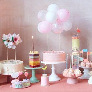 Taarttopper Roze ballonnen Meri Meri