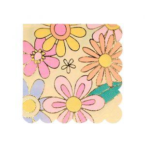 Gebaksservetten Flower Power (16st) Meri Meri