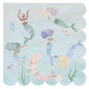 Servetten Mermaid Tail (16st) Meri Meri