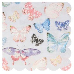 Servetten Butterfly Fairy (16st) Meri Meri