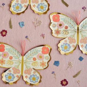 Bordjes Floral Butterfly (8st) Meri Meri