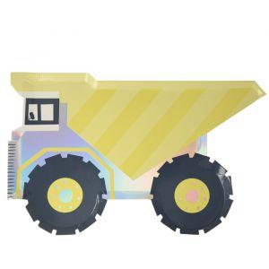 Bordjes kiepwagen Construction (8st) Meri Meri