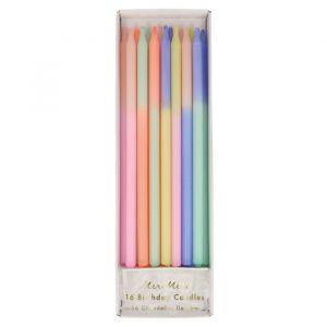 Lange kaarsen Mulit Colour Block (16st) Meri Meri