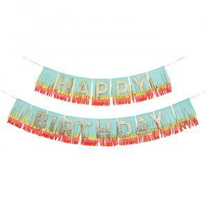 Slinger Happy Birthday Rainbow Fringe Meri Meri