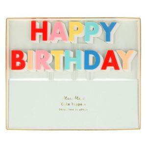 Taarttopper Happy Birthday bright Meri Meri