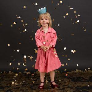Glitter kroon Blauw (8st)