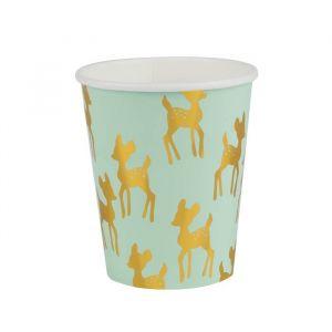 Bekertjes goudfolie Golden Deer (8st) My Little Day