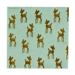 Servetten goudfolie Golden Deer (16st) My Little Day