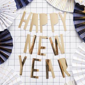 Slinger Happy New Year goudfolie