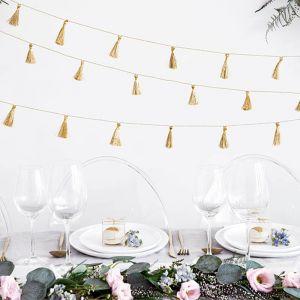 Tasselslinger katoen goud (1,9m) Modern Wedding