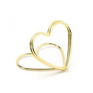Plaatskaarthouders Hearts goud (10st)