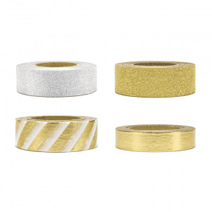 Washi tape glitter mix (4st)