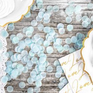 Confetti lichtblauw