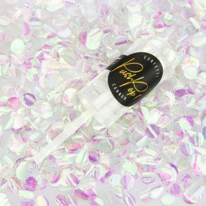 Confetti push pop iridescent