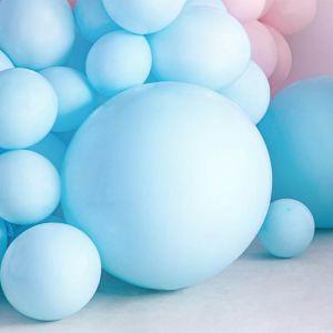 Pastel ballon blauw (60cm)