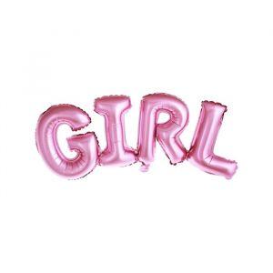 Folieballon Girl roze