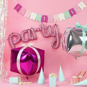 Folieballon Party roze