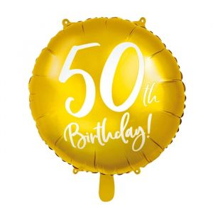 Folieballon 50th Birthday goud (45cm) product