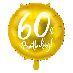Folieballon 60th Birthday goud (45cm)