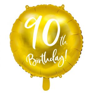 Folieballon 90th Birthday goud (45cm)