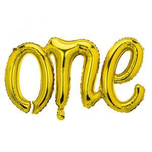 Folieballon One goud (66cm)
