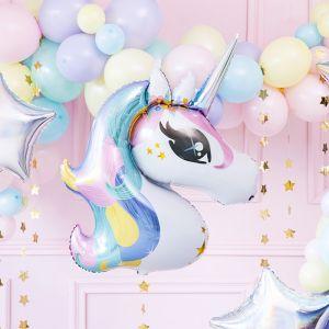 Folieballon Unicorn pastel (90cm)