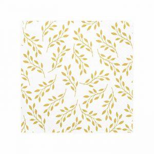 Servetten (20st) Gold branches