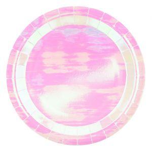 Papieren borden Iridescent (6st)