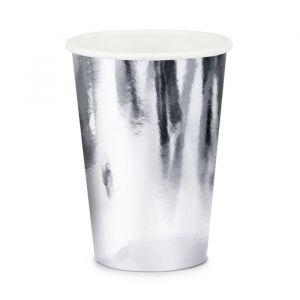 Papieren bekertjes Zilver (6st)